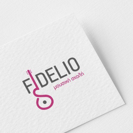 Σχεδιασμός Λογοτύπου για τη Μουσική Σχολή Fidelio στο Αίγιο.