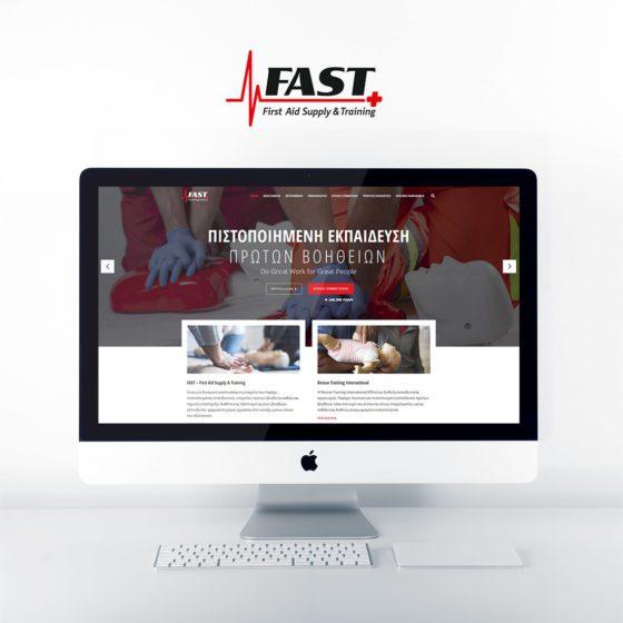 Κατασκευή Ιστοσελίδας για την FAST First Aid Supply and Training στη Λάρισα.