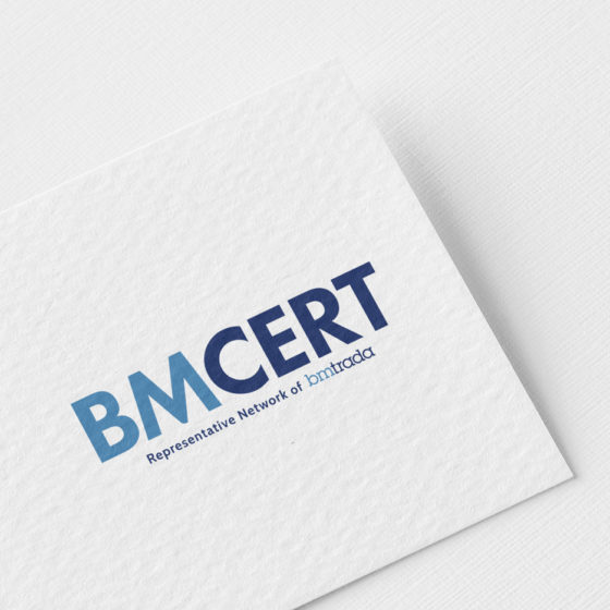 Σχεδιασμός Λογοτύπου για την εταιρεία BMCERT στη Λάρισα.
