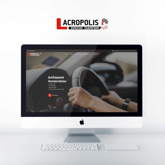 Κατασκευή ιστοσελίδων για την Σχολή Οδηγών Acropolis1 στην Αθήνα.