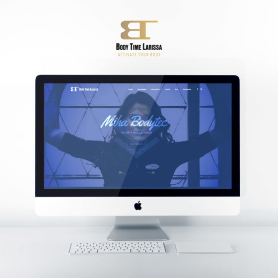 Κατασκευή ιστοσελίδας για το Body Time στην Λάρισα.