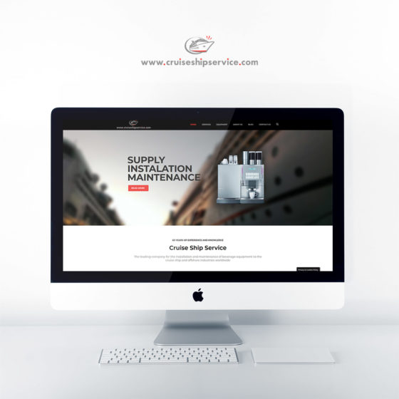 Κατασκευή ιστοσελίδας για το Cruise Ship Service στο Σαουθάμπτον.