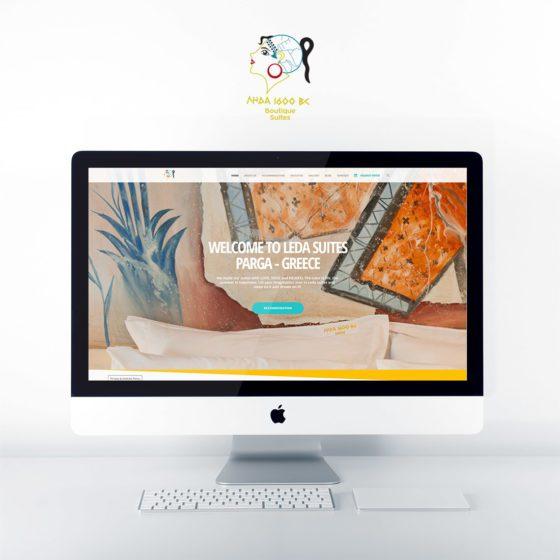 Κατασκευή ιστοσελίδας για τα ενοικιαζόμενα δωμάτια Λήδα Suites στην Πάργα.