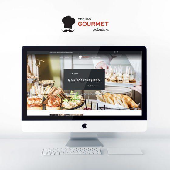 Κατασκευή ιστοσελίδας για την εταιρεία Perkas Gourmet στα Τρίκαλα.