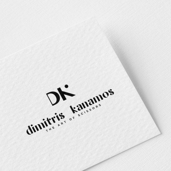 Σχεδιασμός Λογοτύπου για το Κομμωτήριο Dimitris Kanamos The Art of Scissors στη Λάρισα.