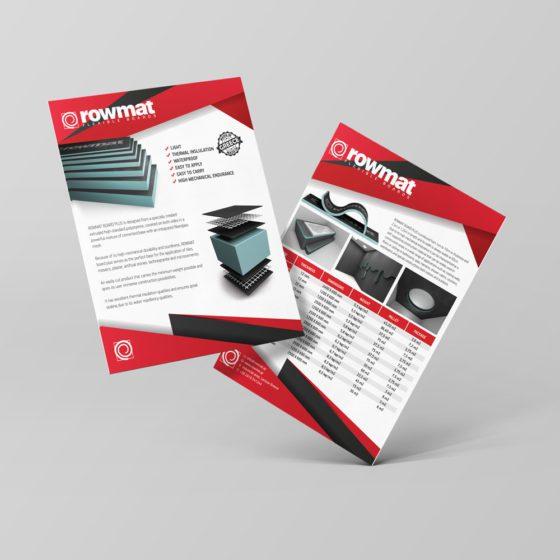 Σχεδιασμός φυλλαδίου για την Rowmat